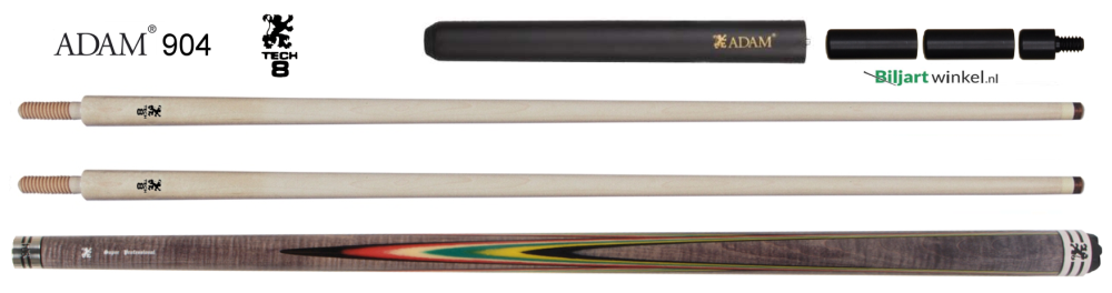 Adam Super Pro carom cue 904 TECH10 shafts