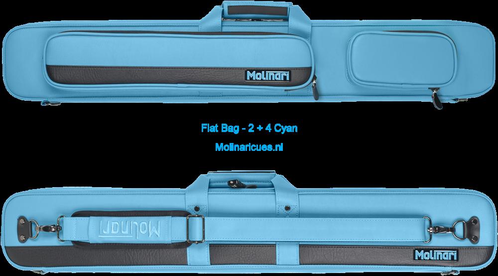 Molinari Flat Bag - 2 + 4 Cyan