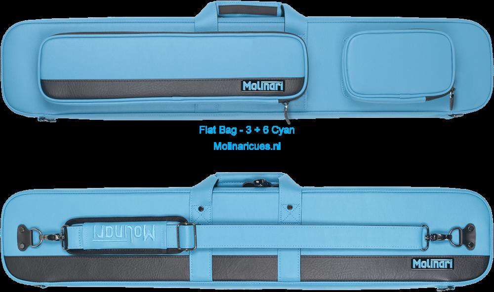 Molinari Flat Bag - 3 + 6 Cyan