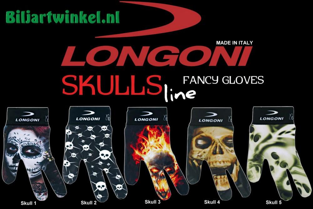 Longoni biljarthandschoenen Skull Line