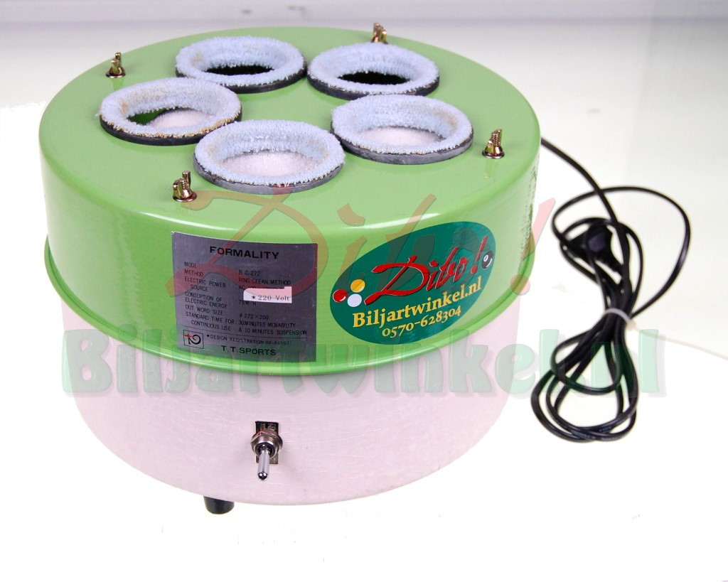 5 Gats Balpoetsmachine voor 5 CARAMBOLE of Poolballen
