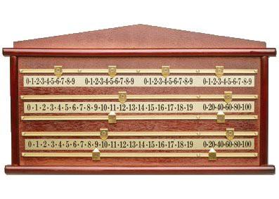 Snooker scorebord Large 4 personen de Luxe 70/39CM