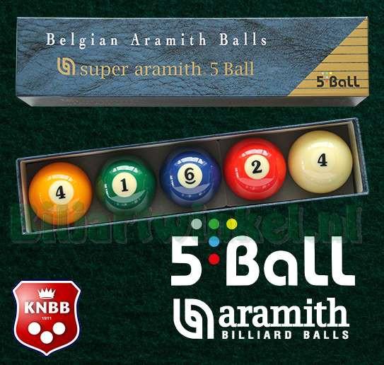 Het nieuwe Super Aramith 5-ball spel