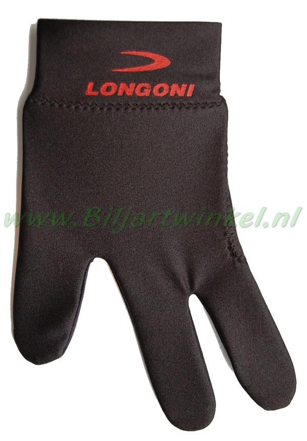 Handschoen Longoni zwart met rood logo