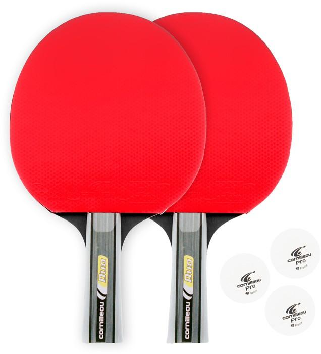 Cornilleau Sport duo pak tafeltennisbatjes set rood