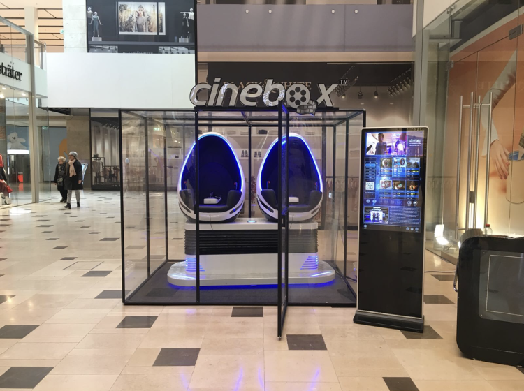 Cinebox 9D Virtual Reality inclusief box opstelling
