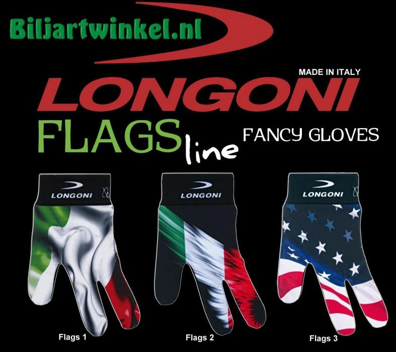 Longoni biljarthandschoenen Country Flags Line
