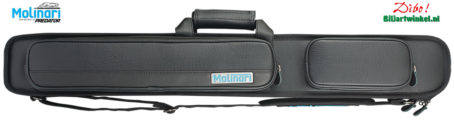 2/4 Molinari Cue-Case - 2 + 4 Black-Black.