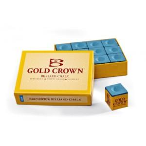 Brunswick biljartkrijt Gold Crown Blue