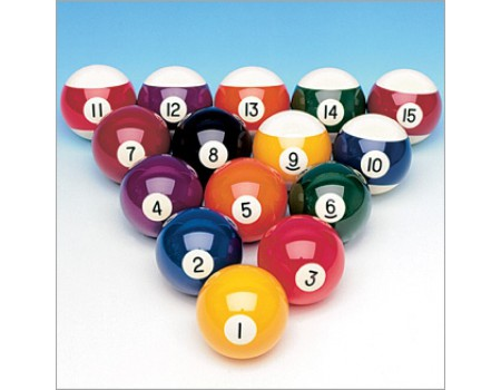 Losse genummerde poolballen aramith 57.2mm