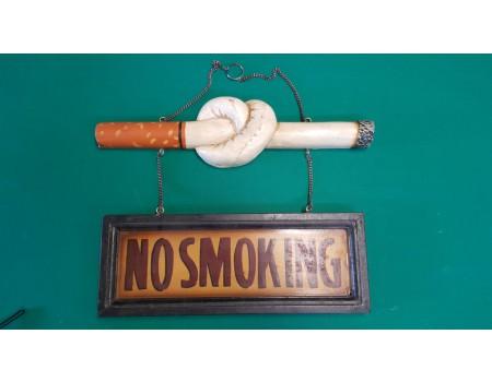 3D reliëf hangbord No Smoking - Margeprijs