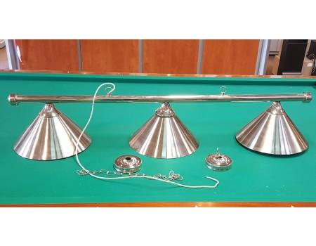 Biljart Lamp Set Chroom 37 cm - Margeprijs