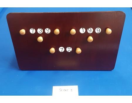 Gebruikt scorebord mahonie nr9 - Margeprijs