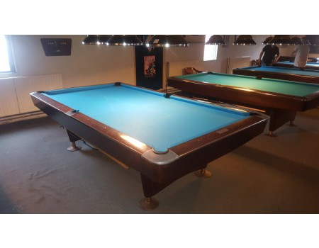 NR1 Brunswick Gold Crown III pooltafel mahonie 9ft - Occasion - Marge
