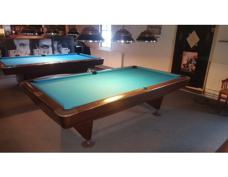 NR2 Brunswick Gold Crown III pooltafel mahonie 9ft - Occasion - Marge