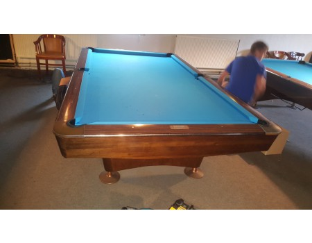 NR3 Brunswick Gold Crown III pooltafel mahonie 9ft - Occasion - Marge