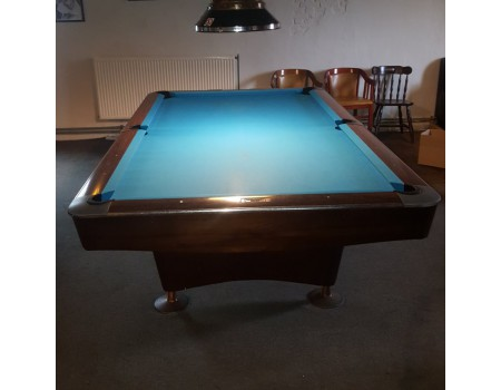 NR4 Brunswick Gold Crown III pooltafel mahonie 9ft - Occasion - Marge