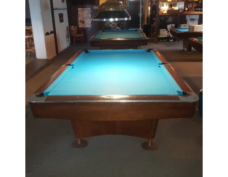 NR5 Brunswick Gold Crown III pooltafel mahonie 9ft - Occasion - Marge