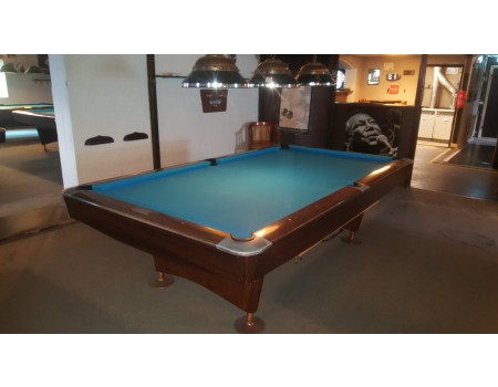 NR6 Brunswick Gold Crown III pooltafel mahonie 9ft - Occasion - Marge