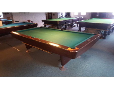 NR8 Brunswick Gold Crown III pooltafel mahonie 9ft - Occasion - Marge