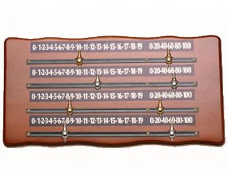 Snookerscorebord hout voor 4 personen, economy.