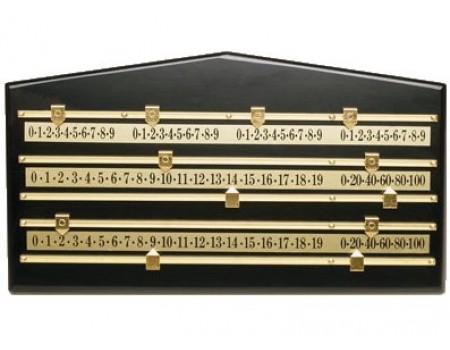 Snookerscorebord groot Zwart