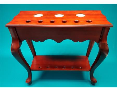 Keurek voor 6 keuen, tafelmodel Mahonie 76cm x 30cm x 76cm