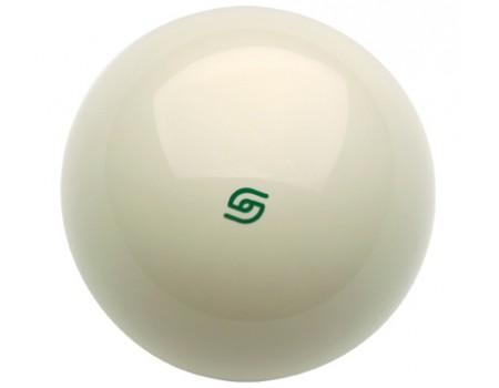 Losse Aramith Magneetbal Wit met groen Logo voor geldinworp pooltafels 57,2mm