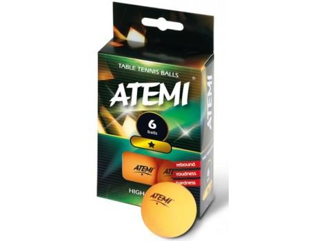 Tafeltennisbal ATEMI 1 ster oranje/6 st