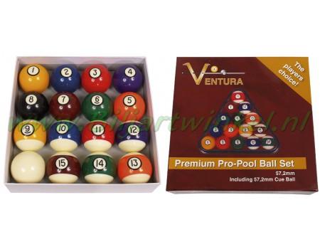 Poolballenset Ventura Premium Pro (Brunswick Style)