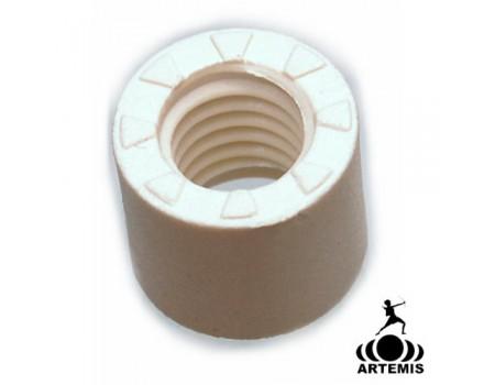 fiberdop wit Artemis 13 mm bovenkant