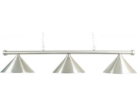 Lamp type pool met drie kappen geborsteld staal