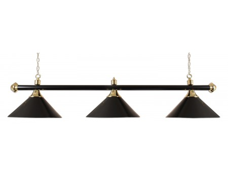 Lamp type pool met drie kappen zwart