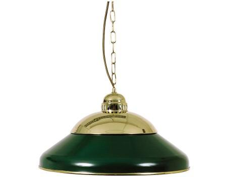 Lamp type biljart Solo 45cm. koper/groen