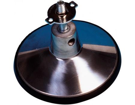 Stelpoot chroom met ring, 16cm
