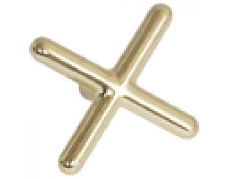 "Brass ""X"" Bridge Head Messing"