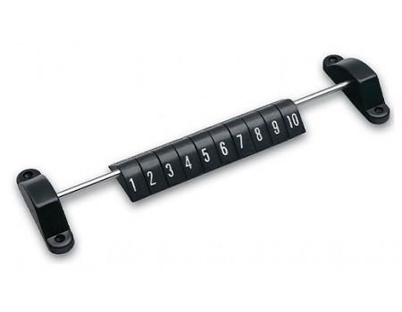 Voetbaltafel Scoreteller Zwart met cijfers en metalen stang