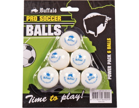 Buffalo Pro tafelvoetbal balletjes set/6pcs white