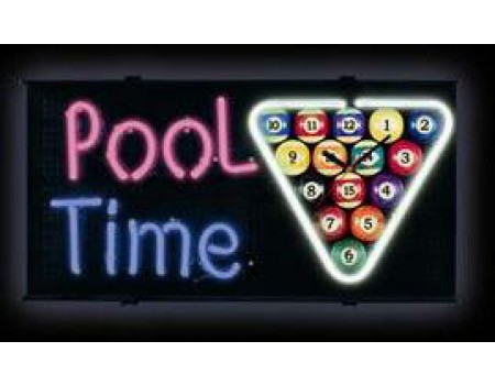 Neon Sign Pool Time