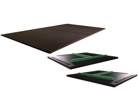 2-delige 7FT Dining-Top voor Buffalo Eliminator II 7 ft, zwart