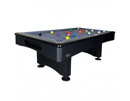 Buffalo Eliminator II 7 ft pooltafel mat zwart/slate grey poolballen