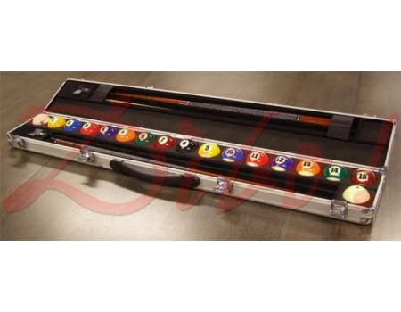 Aramith Aluminium ball en cue case inclusief Aramith Premium poolballen