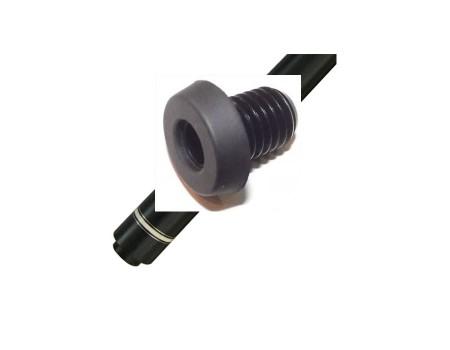 Bongers extention adapter zwart aluminium met rubber dop