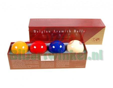 Biljartballen Super Aramith Tournament X4 met blauwe bal