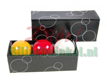 Carambole Biljartballen Economy 61,5 mm met gele bal