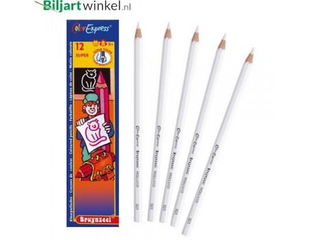 Wit afteken potlood, per doos van 12
