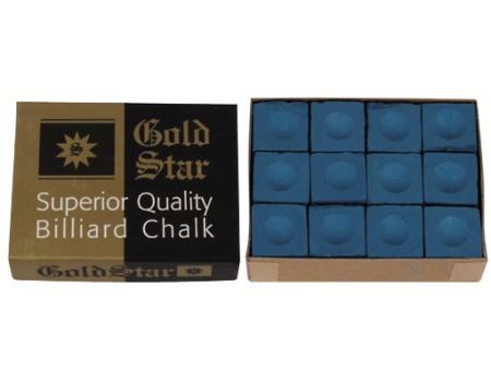 Goldstar Superior biljartkrijt Blauw 12 stuks
