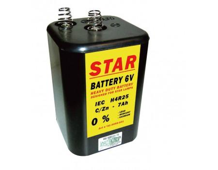 Star Batterij 6V-7 AH voor Pooltafel of voetbaltafel