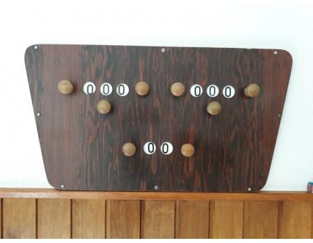 Gebruikt scorebord mahonie nr10 - Margeprijs