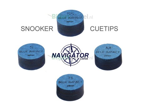 Navigator Blue Impact Snooker tips 11mm